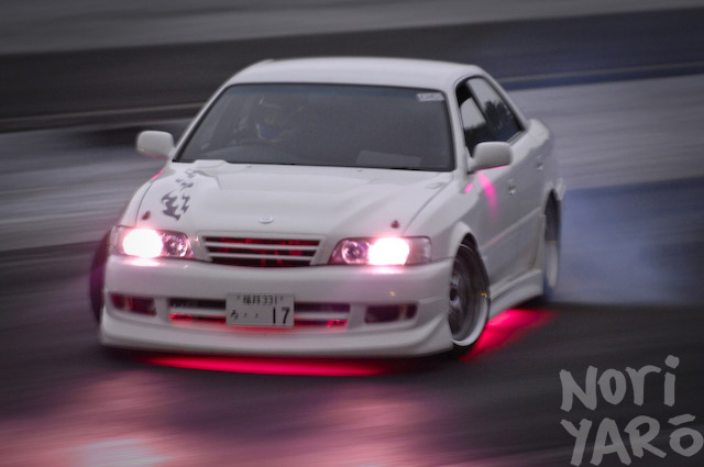 Car Pink Neon Chaser At Fuji Drift Park Noriyaro