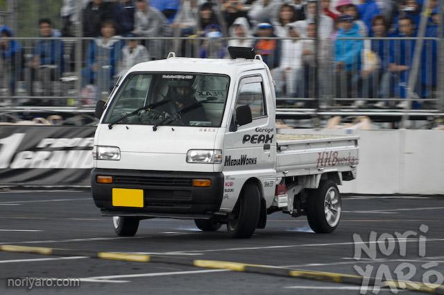 Fresh Vegetables Kei Truck Drifting At Odaiba D1